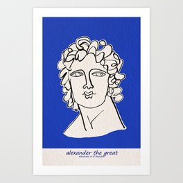 Alexander the Great statue Art Print
