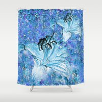 lily Shower Curtains featuring Lily  by Saundra Myles