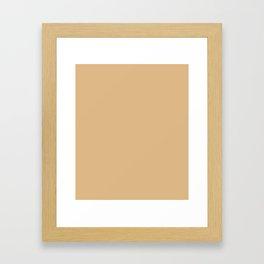 Burlywood - solid color Framed Art Print