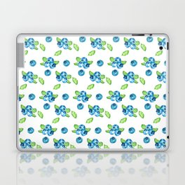 Blueberry Watercolour Pattern Laptop & iPad Skin