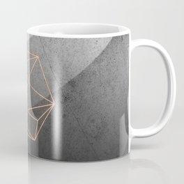 Geometric Solids on Marble Coffee Mug