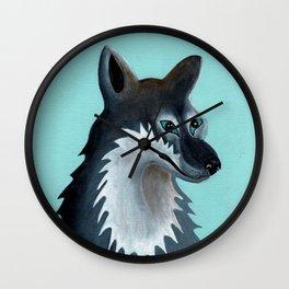 Mrs. Gray Wolf Wall Clock