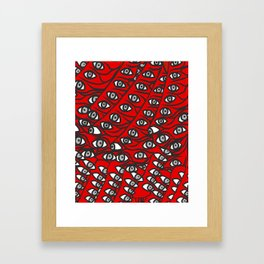 Freddie Eyeballs Red Framed Art Print