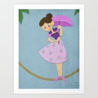 haunted mansion Art Prints featuring Tight Rope - Haunted Mansion by ShelbyDenham