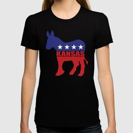 Kansas Democrat Donkey T-shirt