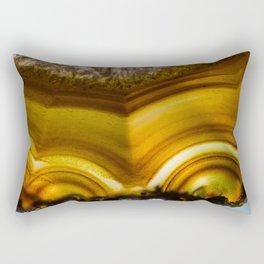 Amber Agate Edges Rectangular Pillow