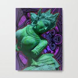 Indian Goddess Uttar Pradesh Apsara Metal Print