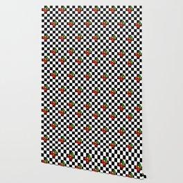Checkered Cherries Wallpaper
