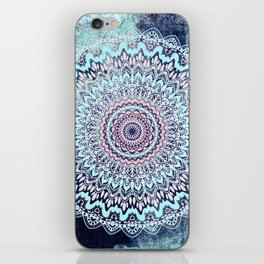BLUE AUTUMN BOHO MANDALA iPhone Skin