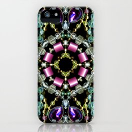 Bling Jewel Kaleidoscope Scanography iPhone Case