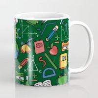backpack Mugs featuring Back to school by Julia Badeeva