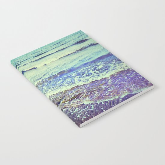 Retro beach. Summer Waves Notebook