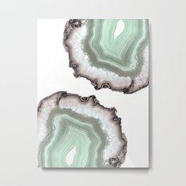 Light Water Agate Metal Print