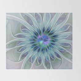 Floral Beauty, Fantasy Flower Throw Blanket