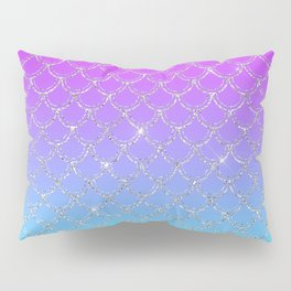 Gradient Mermaid Scales Pillow Sham
