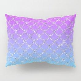 Gradient Mermaid Scales Pillow Sham