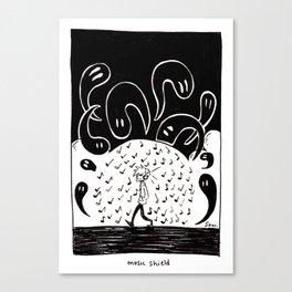 Music shield Canvas Print