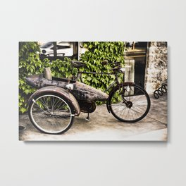 Classic Bicycle with a Side Car in Napa Valley Metal Print