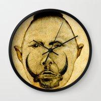 tribal Wall Clocks featuring tribal  by Ganech joe