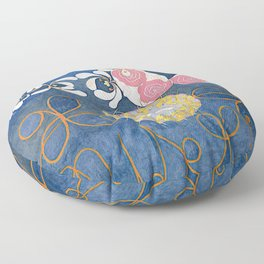 The Ten Largest No. 01 Childhood Group IV Hilma Af Klint Floor Pillow