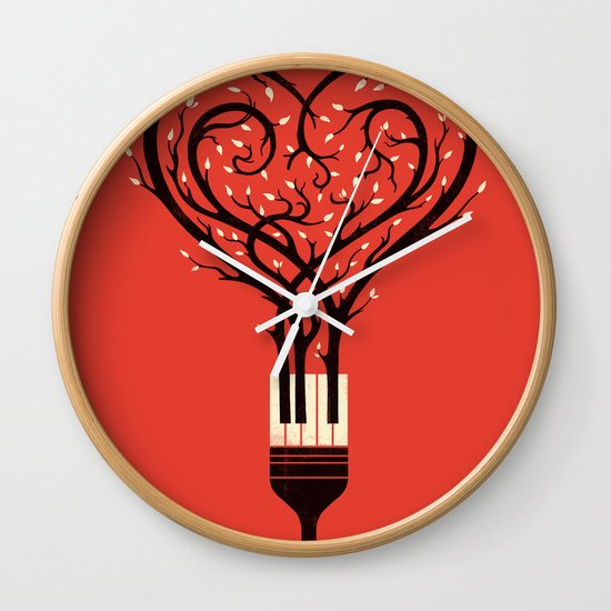 Paint Your Love Song Wall Clock