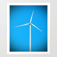 Wind turbine Art Print