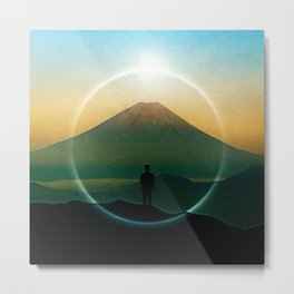 In Front Of The Volcano Metal Print