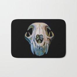 bobcat skull Bath Mat