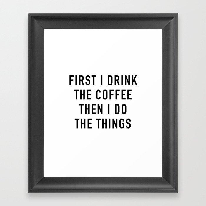Coffee Gerahmter Kunstdruck