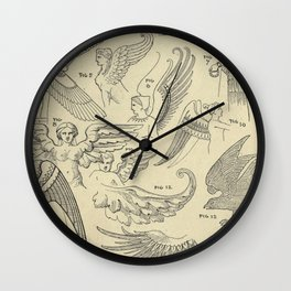 Winged Mythology Wall Clock