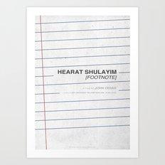 Hearat Shulayim [Footnote] - MINIMALIST POSTER Art Print