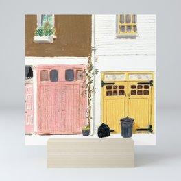 EBURY MEWS Mini Art Print