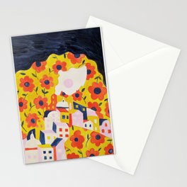 Flower Woman Stationery Cards