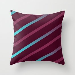 The Burgundy Blues II Throw Pillow