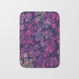 chalk flowers Bath Mat