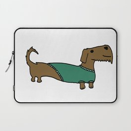 Daschund with sweater Laptop Sleeve