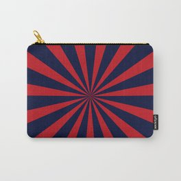 Retro dark blue and red sunburst style abstract background Carry-All Pouch