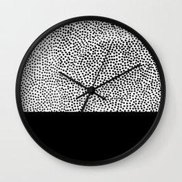 Dots and Black Wall Clock