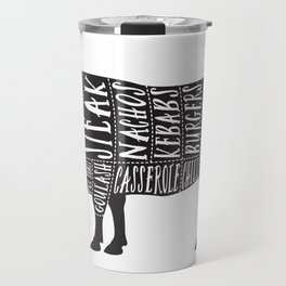 Beef butchers diagram Travel Mug