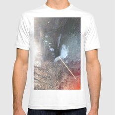 Pink Water White MEDIUM Mens Fitted Tee