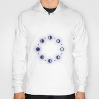 moon phases Hoodies featuring Moon Phases by Sweet Colors Gallery