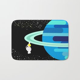 Space Odyssey | Astronaut & Planet | Space | Saturn | Galaxy | pulps of wood Bath Mat