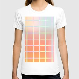 Colorful abstract gradient design T-shirt