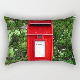 Red UK Letterbox Painting Rectangular Pillow