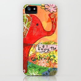 Contemplate with the Heart iPhone Case