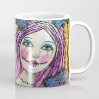goth Mugs featuring Goth Girl by Krazy Island Studios