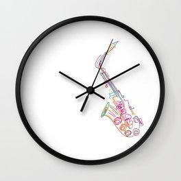 Stylized  saxophone Wall Clock