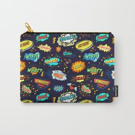 Retro Vintage Comic Book Speech Bubbles Design Carry-All Pouch