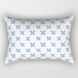 Blue Floral Moroccan Islamic Pattern Rectangular Pillow
