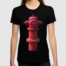 Red East Jordan Iron Works Long Barrel Fire Hydrant Red Fireplug T-shirt